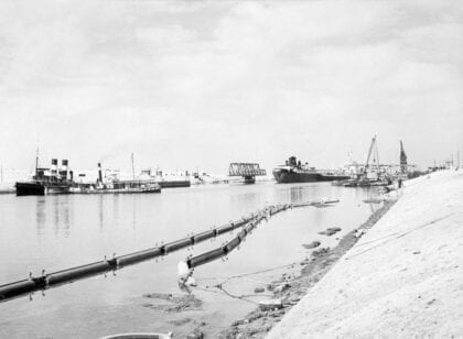 old picture of suez canal