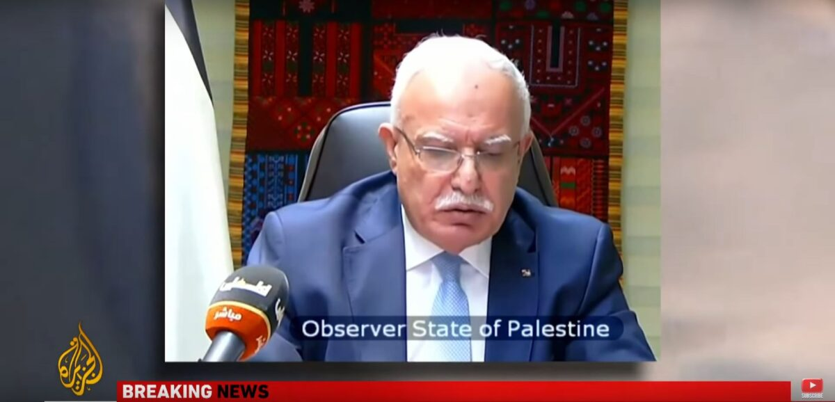 Israel committing war crimes in Gaza, Palestinian FM tells UN