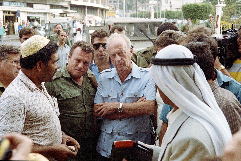 Rabin talks to Palestinians
