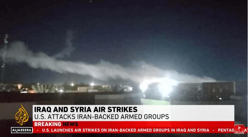 الولايات المتحدة تشن غارات جوية على الميليشيات المدعومة من إيران في سوريا والعراق