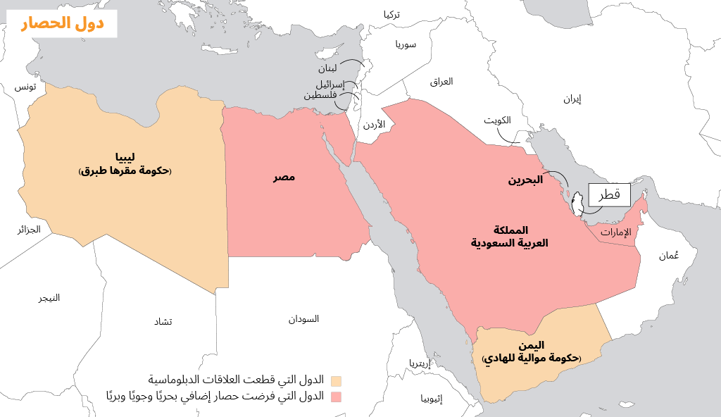 1.QATAR BLOCKADE MENA countries map AR 1024