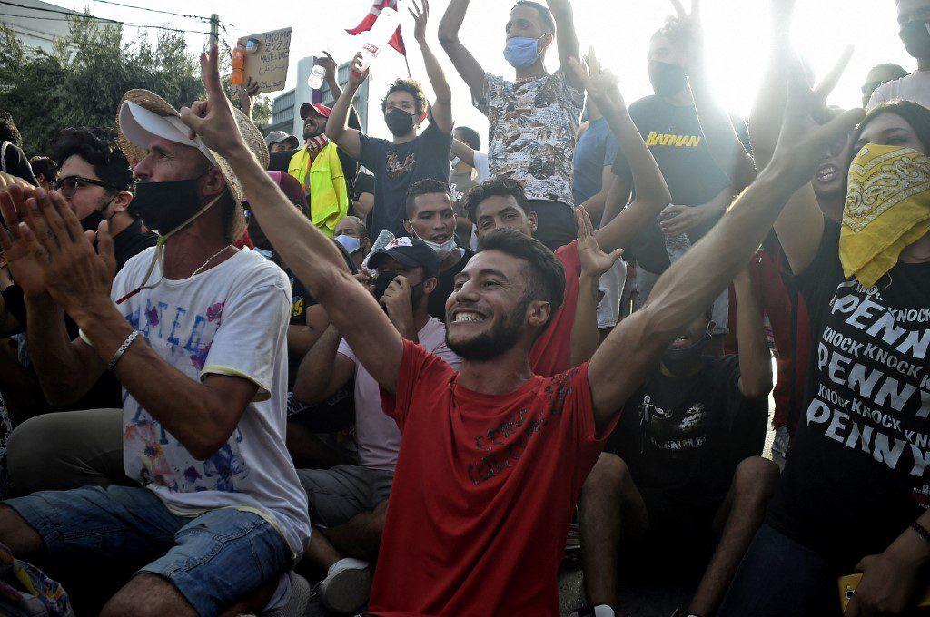 Tunisian demonstratos