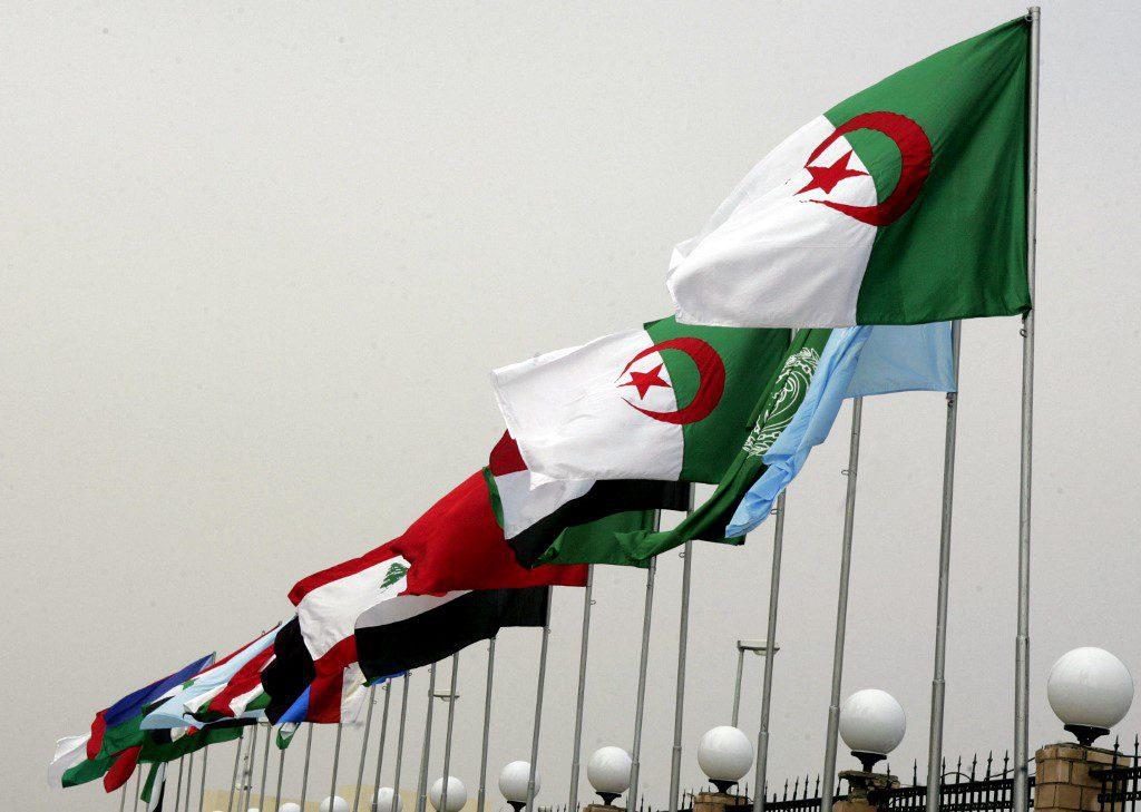 أعلام الدول العربية التي شاركت في القمة العربية