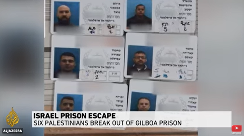 Six Palestinians Escape from High-Security Prison in Israel