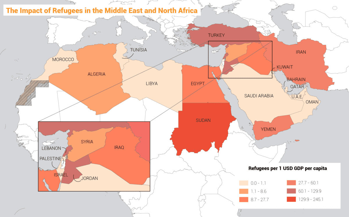Refugees in the Middle East and North Africa