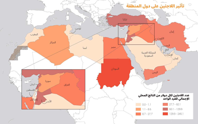تأثير اللاجئين على دول المنطقة