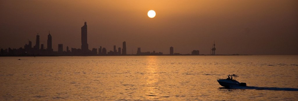 Sunset over Kuwait City