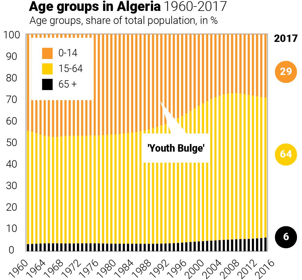Algeria- age groups algeria