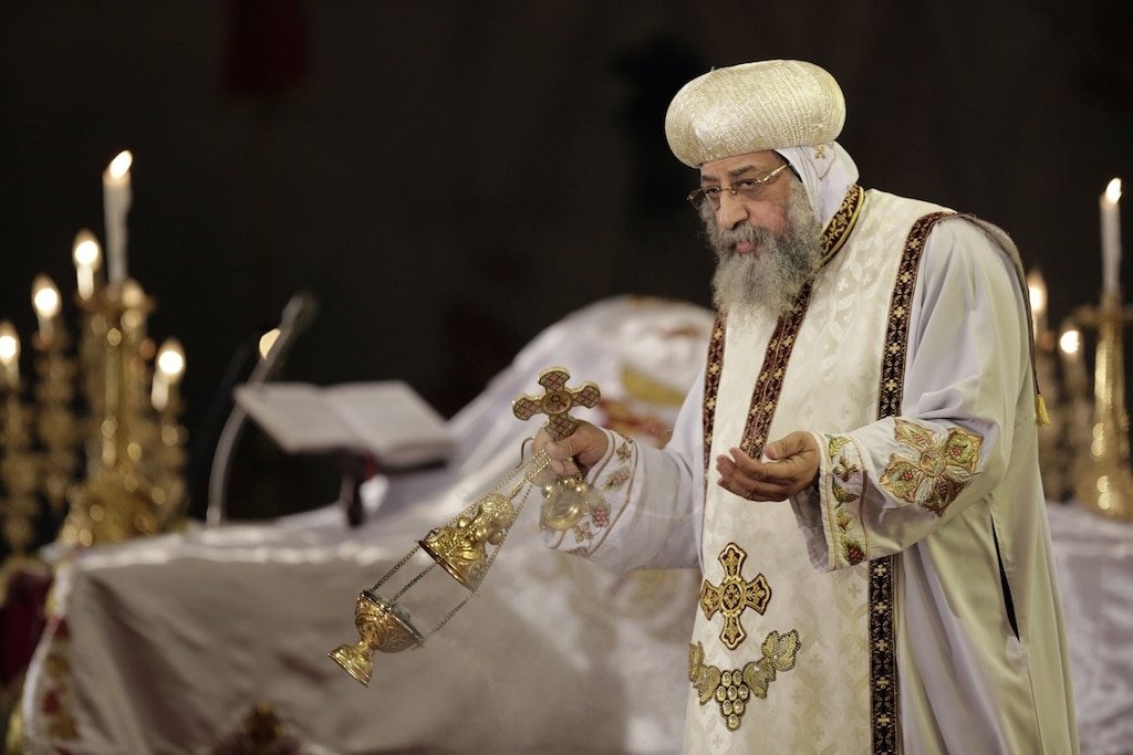 Tawadros II Coptic Pope Egypt Faces