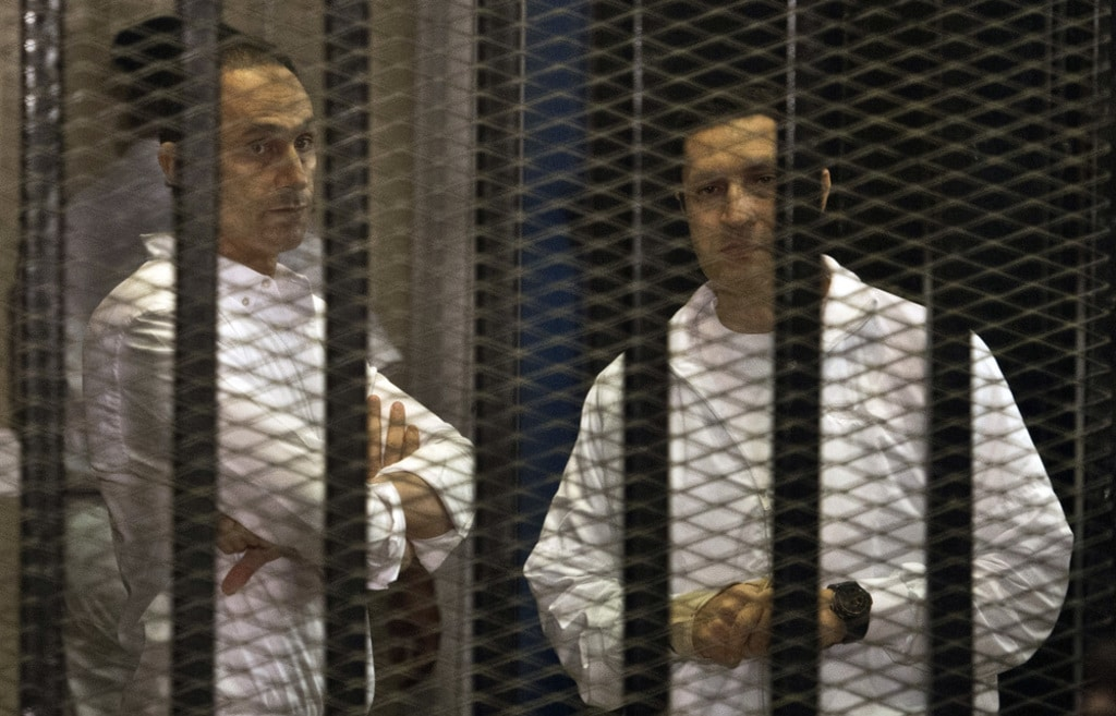 Egypt- Alaa and Gamal Mubarak