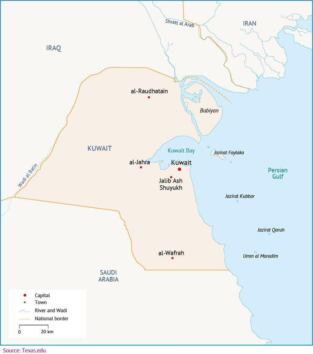 Kuwait Map 00 1024