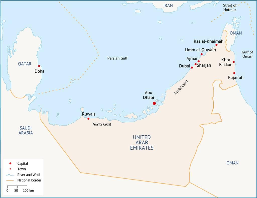 UAE Map 1024