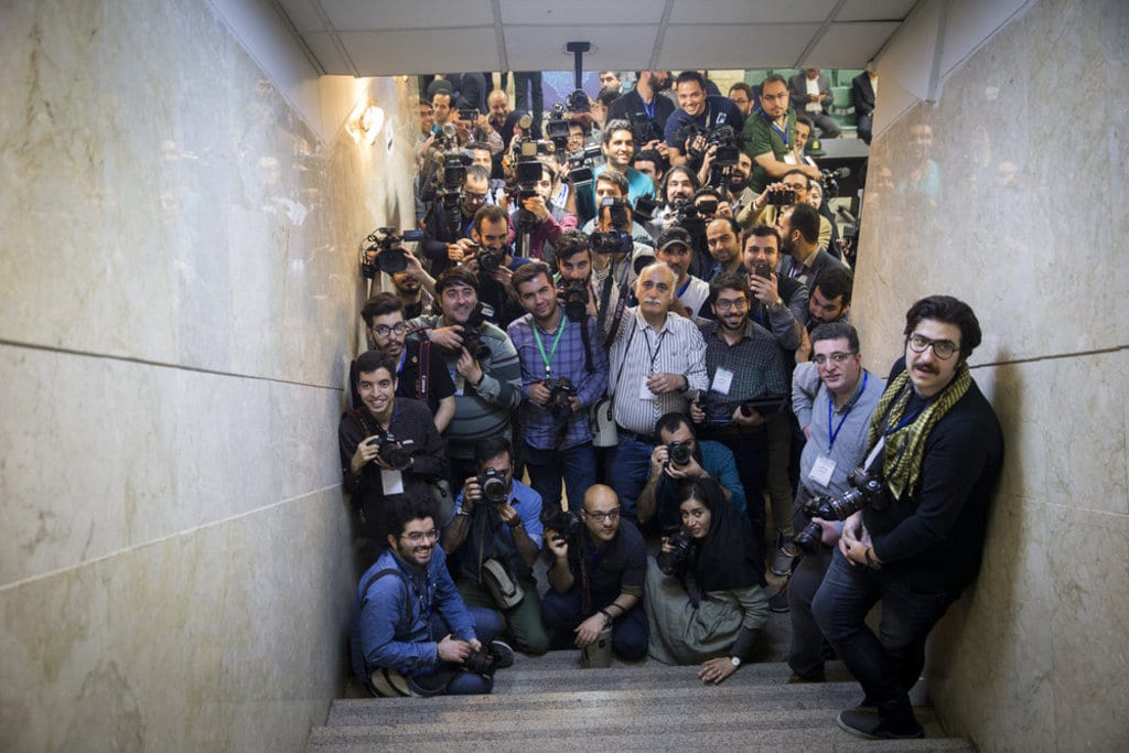 Iran media- photographers, reporters and cameramen