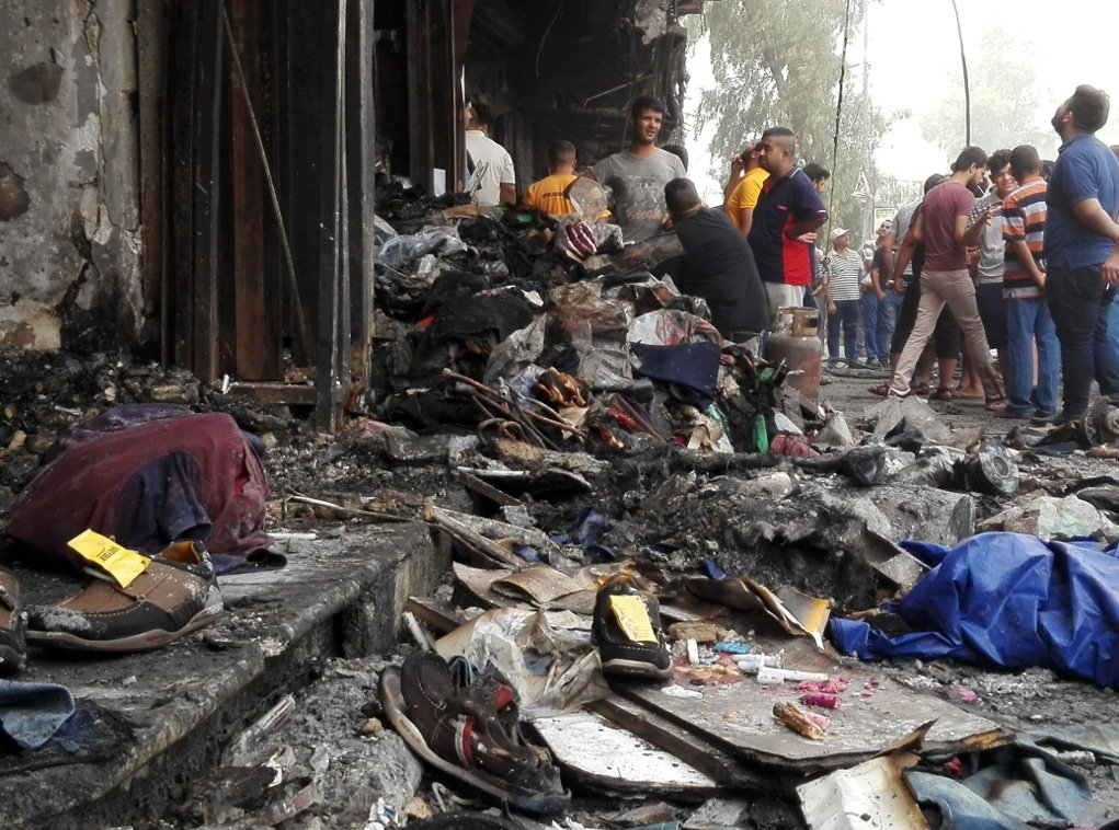 Iraq corruption suicide attack in Baghdad IS