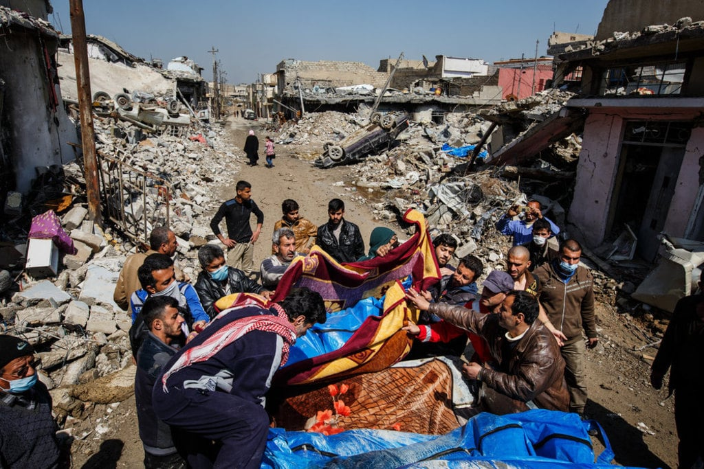 Iraq- Victims of airstrikes in Mosul