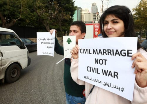 In Lebanon, Civil Marriage Returns in the Public Debate