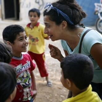 Sabine Choucair and Syrian refugees