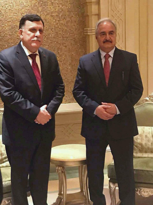 Libya- Fayez al-sarraj and Haftar in UAE