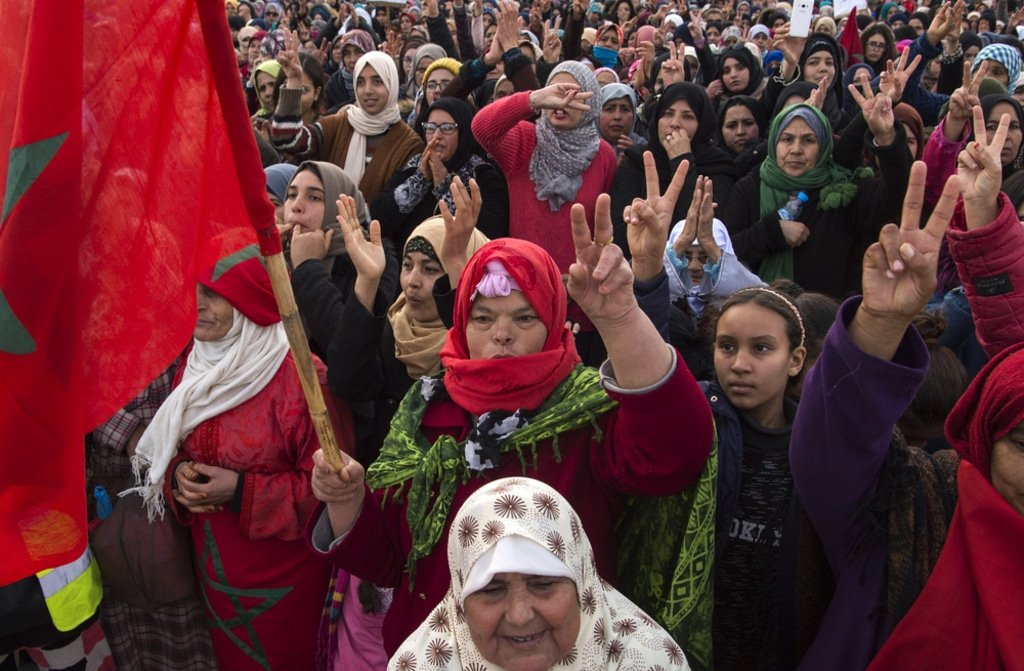 Morocco- Demonstration in Morocco
