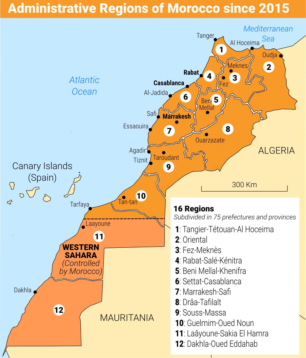 Morocco regions