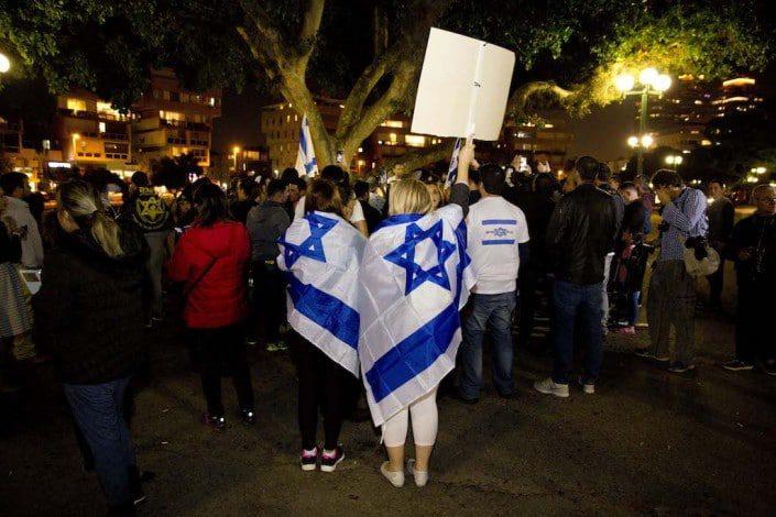 السياسة تتحول اليمين activists Tel Aviv March 2016
