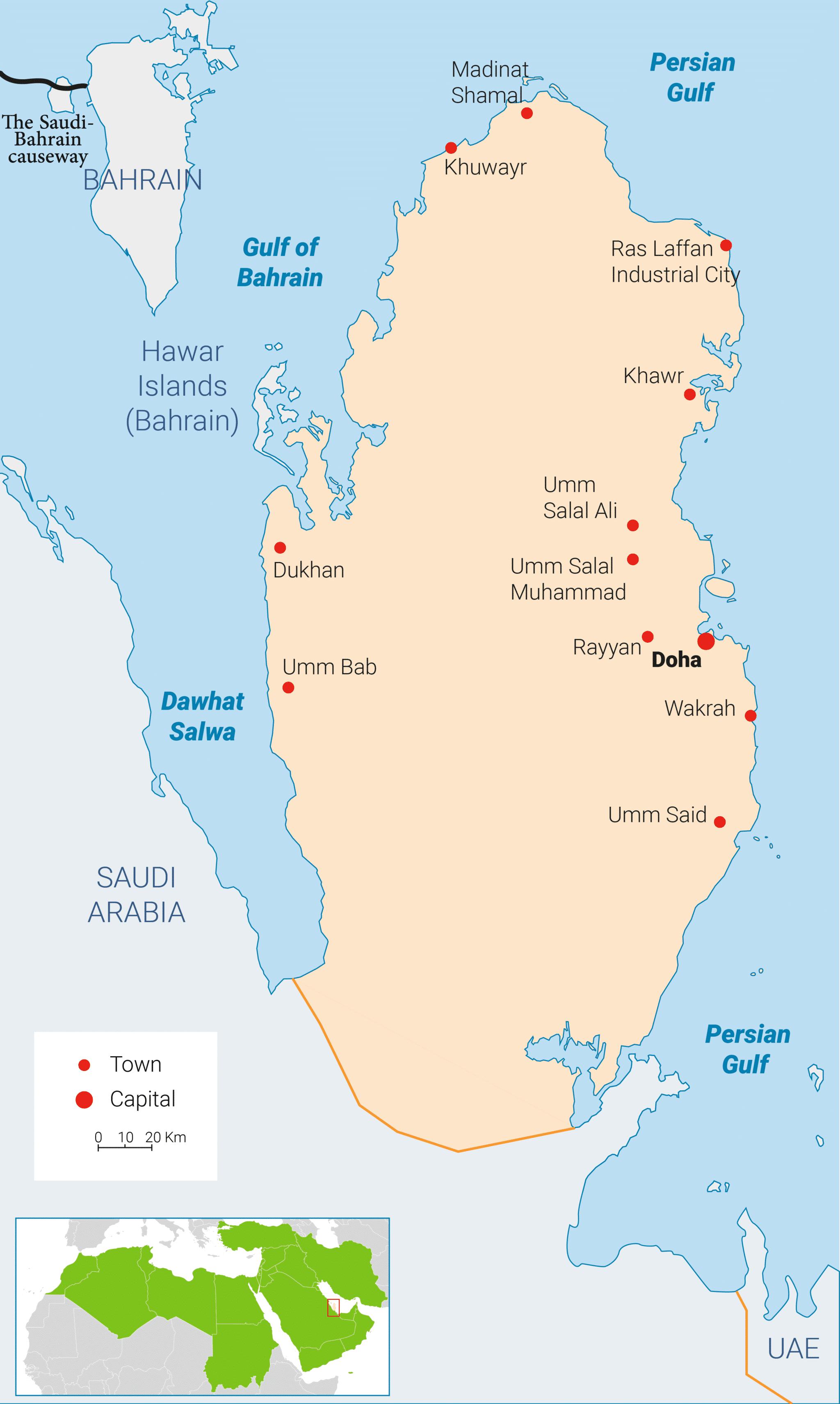 Qatar Energy Map 3000