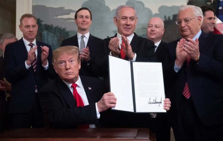 Trump Recognizes Israeli Sovereignty over Golan Heights, Hinders Peace