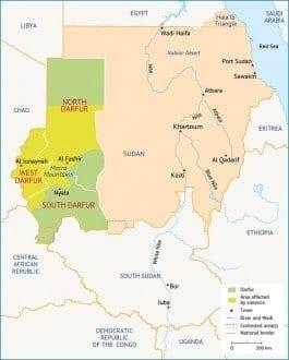 Sudan Map Darfur 705