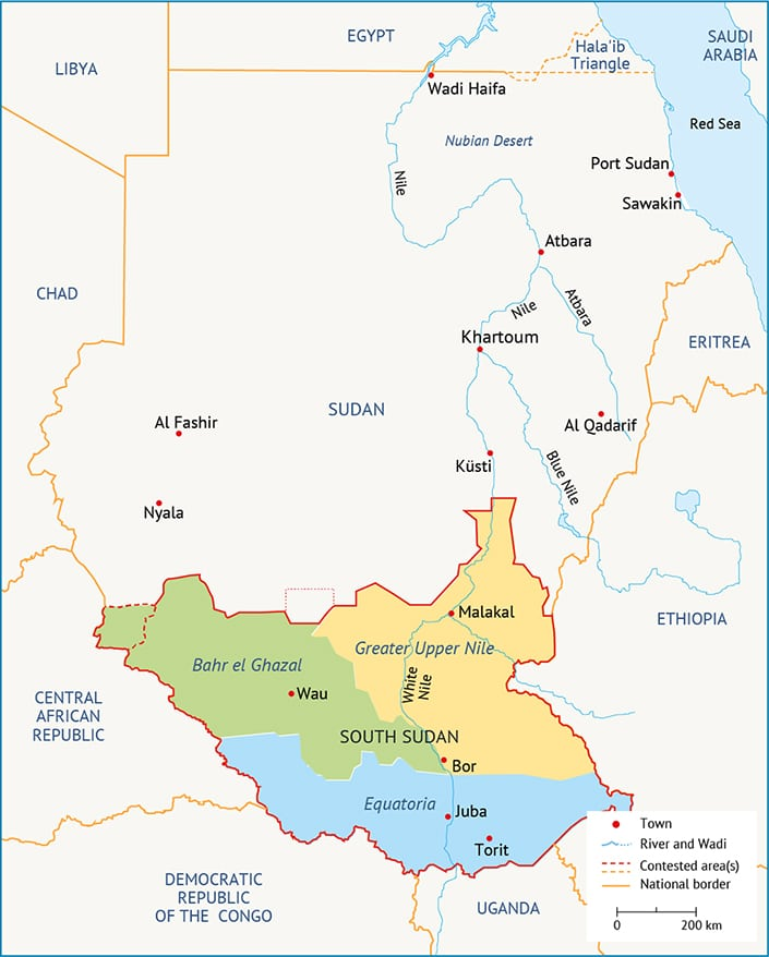 Sudan Islamic Coup southern provinces
