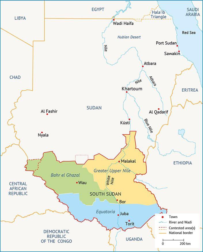 السودان الانقلاب الإسلامي southern provinces