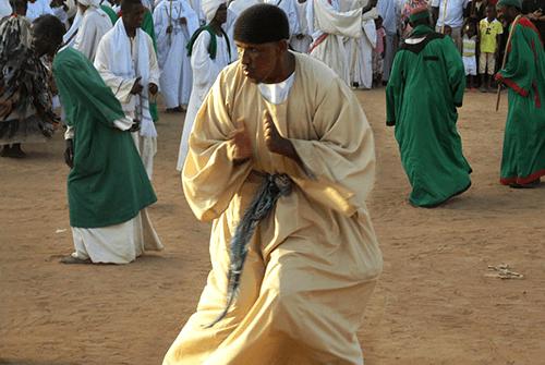 السكان السودان رجال صوفيون