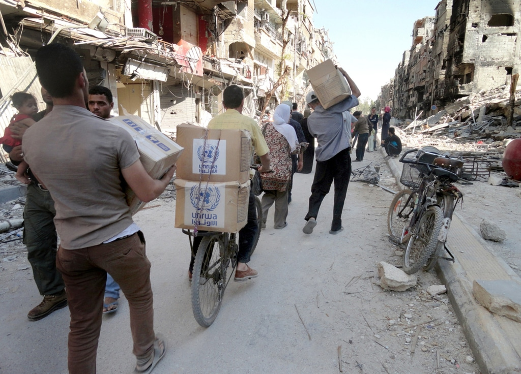 Syria- palestinian refugees in Yarmouk