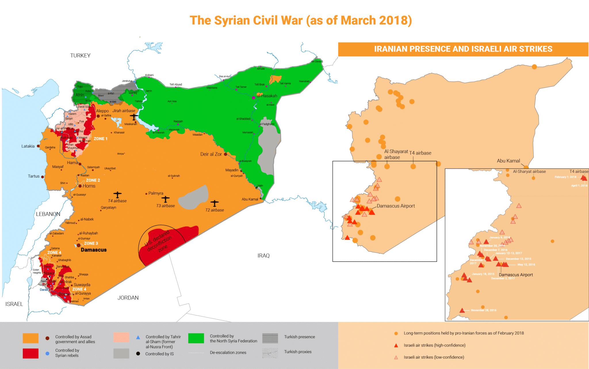 Syrian Civil War Map 3000