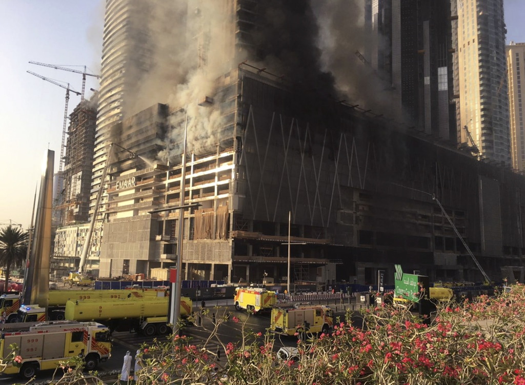 UAE- Fire at Fountain Views Tower