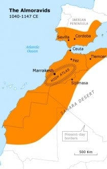 berber dynasties the almoravids morocco map history almoravids 318