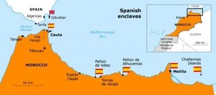 border disputes morocco gibraltar map 720