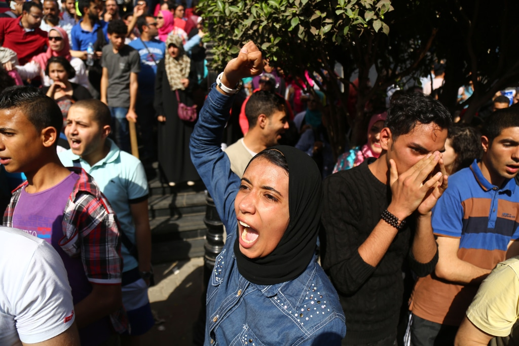 protests against the Egyptian government