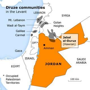 ethnic and religious groups jordan druze map 400 7bf32321ac