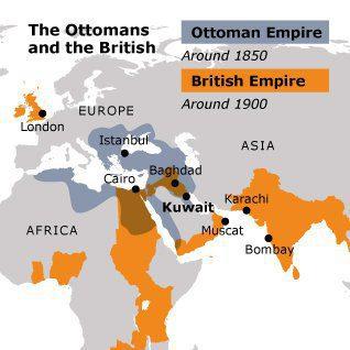 foreign powers kuwait british empire map 3