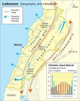 geography and climate Libanon map1 climate 500 a3b54ad167