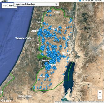 israeli settlements interactive map 1
