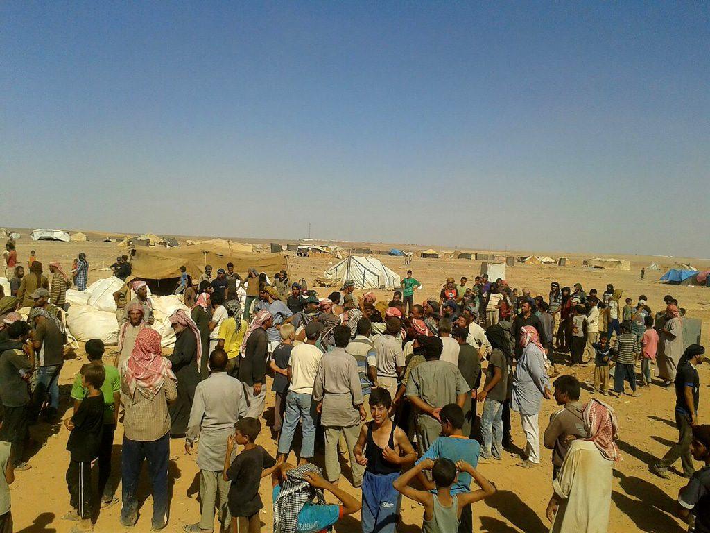 اللاجئون السوريون الحدود الأردنية