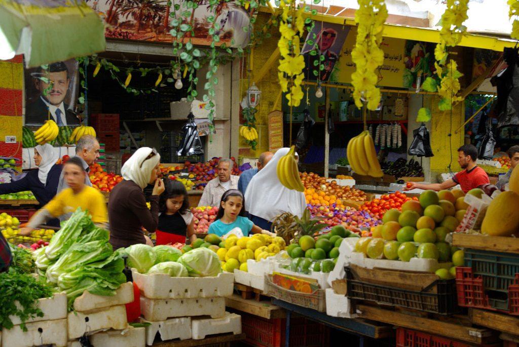 Population Jordan - Market place in Amman