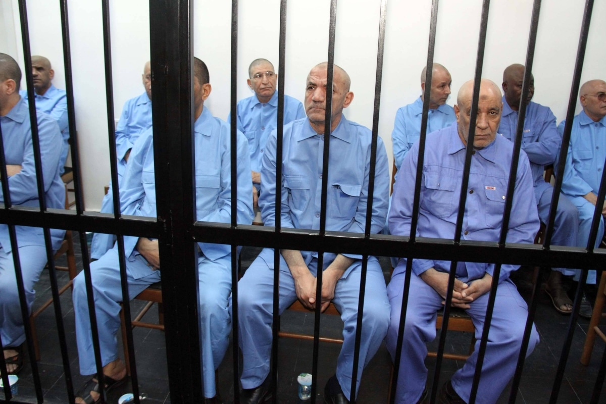 Saif al-Islam Gaddafi and other members of Gaddafi's regime are being sentenced by the militias trials