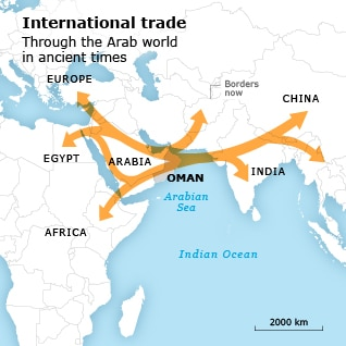 maritime trade oman trade history map 04