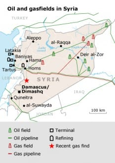 natural resources Syria oil map 03