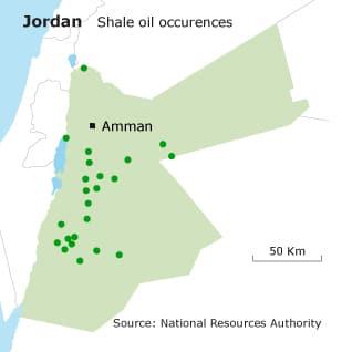 natural resources jordan oil shale map 318