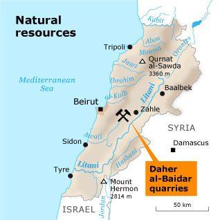 natural resources lebanon rivers nat resources map 02