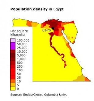 overpopulation egypt population density 318