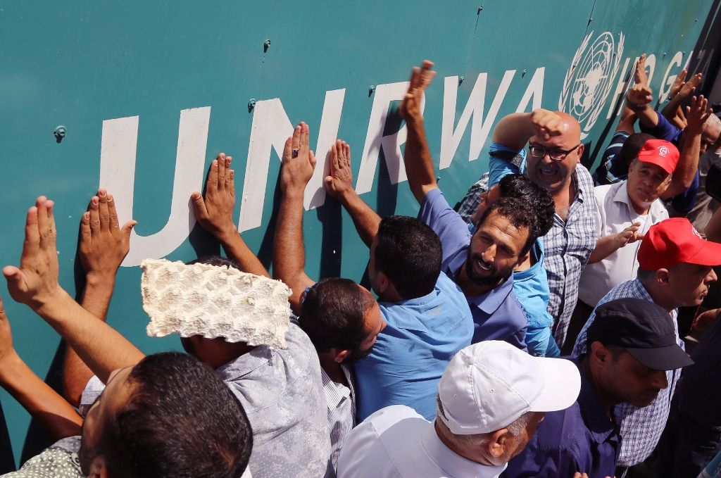 Palestinian Authority financial aid protest UNRWA